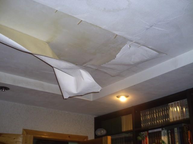 Фото потолки после затопления квартиры